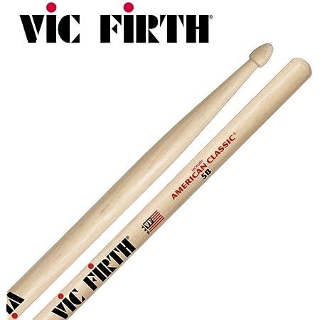 Vic Firth American Classic 5B Baguettes, Caryer Américain, Bout en Bois