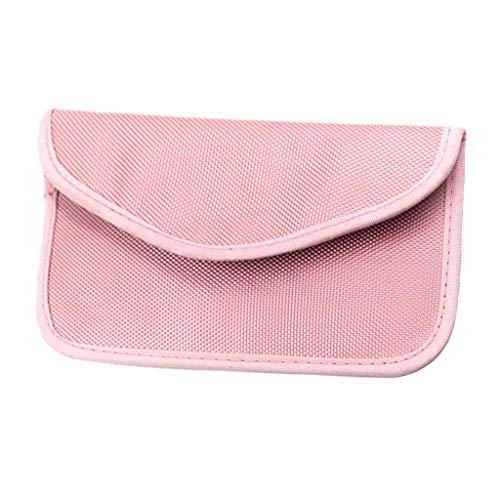 oshhni 1 bolsa com bloqueio de sinal para celular, rosa, 19.5x11cm