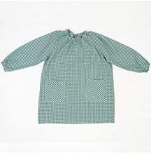 10XDIEZ Bata Escolar Unisex Verde - Medida Bata Infantil - 0-2 años (86-92 cm de Altura)