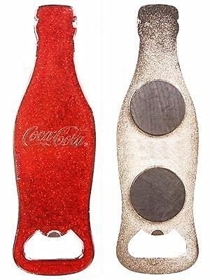 EliteKoopers 1 abridor de botellas de color rojo con purpurina de Coca...