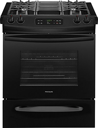 Frigidaire FFGS3026TB 30 Inch Slide-in Range with Sealed Burner Cooktop in Black