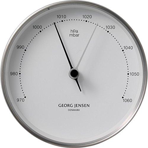 Georg Jensen Barometer Henning KOPPEL 10cm Stahl-weiß