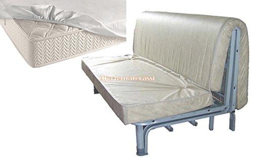 EFFETTO CASA Materasso per Divano Letto 160X190 PRONTOLETTO con Piega su Seduta (Materasso + coprimaterasso)
