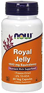 Now Royal Jelly 1500 Mg Freeze Dried Capsules - 60 Capsules