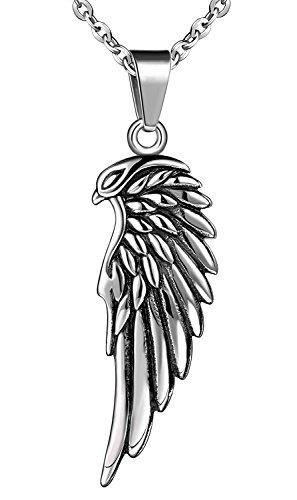 Feilok Colgante de acero inoxidable con diseño de alas de diablo y águila