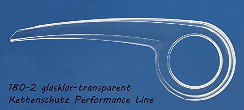 DEKAFORM Fahrrad Kettenschutz 180-2 klar durchsichtig bis 36/38 Zähne für Hercules KTM Fahrrad Modern Look* glasklar-transparent