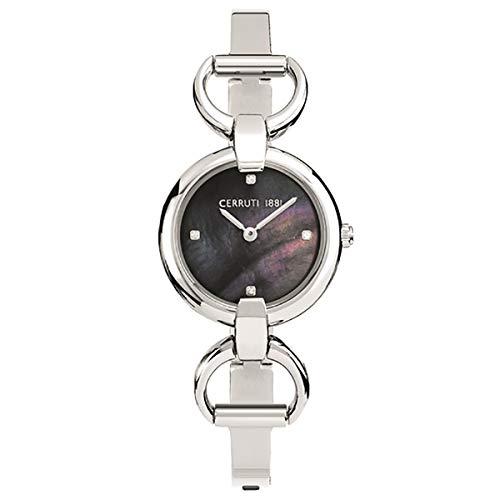 Cerruti 1881 Damen-Armbanduhr, Stahl, Grau