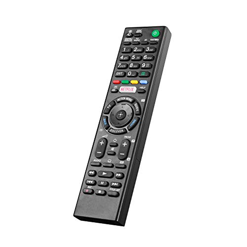 Nuevo Mando a Distancia Universal para Mando a Distancia para Sony LCD/LED TV (Botón Netflix), No Se Requiere Configuración del Televisor Control Remoto Universal Sony RMT-TX100D