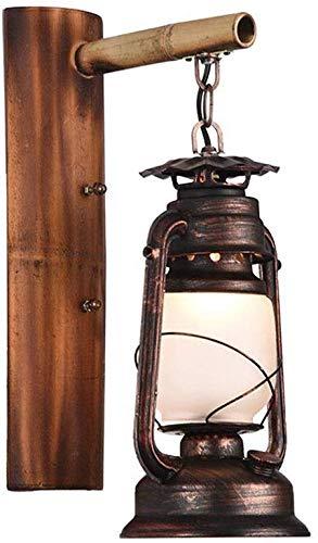Wandlamp Vintage Retro smeedijzer bamboe creatieve persoonlijkheid lamp net Gamma bar industriële wind antieke alllee balkon wandlamp