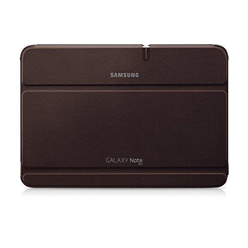 Samsung Original Diarytasche (Flipcover) im Buchdesign EFC-1G2NAECSTD (kompatibel mit Galaxy Note 10.1) in amber brown