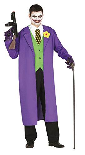 Fiestas Guirca Costume Joker buffone Assassino Uomo