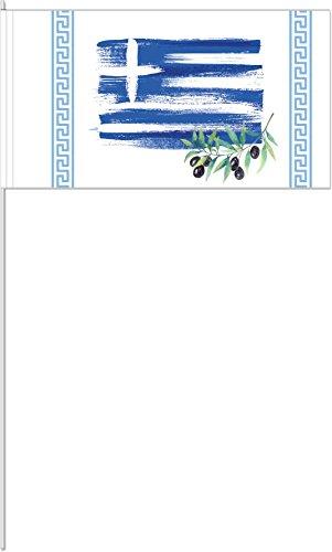 DH-Konzept 10 Fähnchen * GRIECHENLAND * als Deko für Mottoparty oder Länder-Party // Greece Athen Flaggen Fahnen Papierfahnen Flag