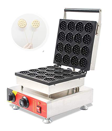 cgoldenwall np-690 16 commerciële mini wafelmaker rond wafelpatroon fornuis wafelpatroon machine met antiaanbaklaag wafelijzer 220V