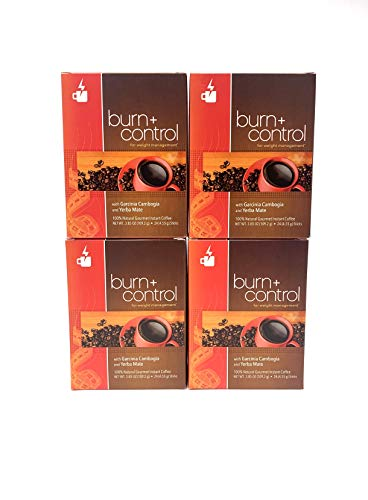 Javita (burn + control) Gourmet Instant Coffee for Weight Loss (Power Kit - 4 boxes, 3.38Oz Each)