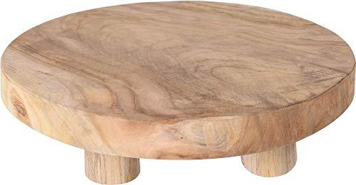 Teak-Tisch mini Teakholz Holz-Tischchen Blumenständer Etagere Pflanzenhocker 30cm