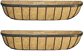 Garden King 24 Inch Wall Mounted Trough Black for Indoor and Outdoor (Set of 2, Length: 60cm, Width: 17cm, Height:17cm) Co...