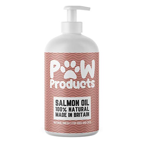PAW Products MASSIVE VALUE 1L 100% NATURAL SALMON OIL For Dogs, Cats, other Pets - 100% Pure Premium Food Grade - Natural Omega 3,6 & 9 Supplement - Promotes Coat, Skin, Joint and Brain Health