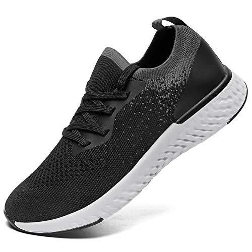 SANNAX Zapatos Mujer Zapatillas Casuales Zapatos Planos Correr Gimnasio Sneakers Zapatillas Deportivas Transpirables Cómoda
