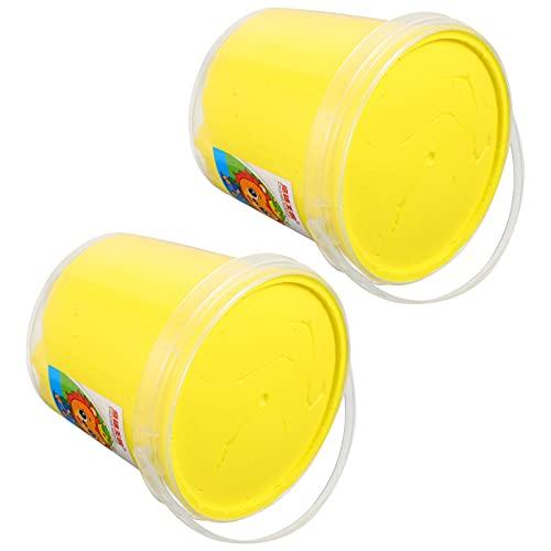 Artibetter 2 Piezas de Kit de Arcilla de Modelado Ultra Ligero de Arcilla Seca Al Aire Kit de Masa de Modelado para Niños DIY Arte Artesanías Regalo Juguetes Educativos Amarillo