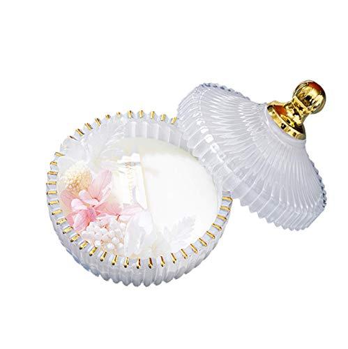 Velas perfumadas Copa dorada Velas de aromaterapiaRecuerdos del festiva Purificación de aire interior Atmósfera Aromaterapia Regalo del día de la madre (Rosa-Vainilla)