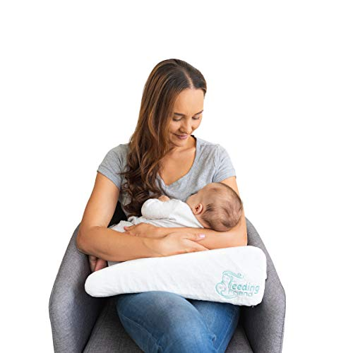 BREASTFEED OR BOTTLE FEED in COMFORT anytime with PORTABLE ARM SUPPORT! Slide wedge under your loading arm in ANY NURSING POSITION & relax! Roll up, pack away for on-the-go feeds