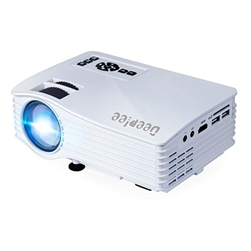 """DeepLee DP36 LED LCD Mini Projector, 120"""" Home Theater Video Projector with AV USB SD HDMI for Home Cinema Video Game Courtyard Movie Night support PC Laptop PS3/PS4 Xbox Wii Portable Projector"""