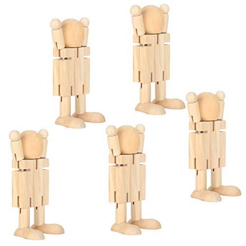 XINL Holzroboterpuppe, Umweltschutzkinder-Lernspielzeug, DIY-Graffiti-Puppe, für Kinder Kinder