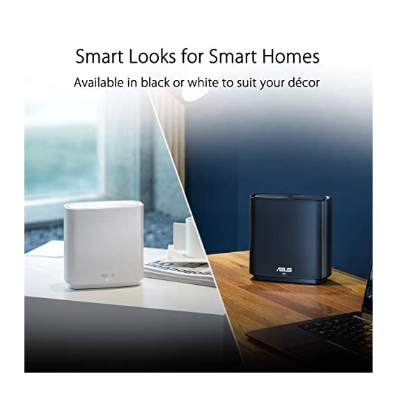 ASUS ZenWiFi AC3000 Tri-Band Mesh WiFi System (CT8 1PK) - Whole Home Coverage up to 2700 sq.ft & 3+ rooms, AiMesh… 6 Banish WiFi Dead Zone—Tri-band mesh WiFi system with unique antenna placement delivers strong WiFi to every corner of your home, providing total wireless speed of 6600Mbps. Next-Gen Wi-Fi 6 Technology— With OFDMA and MU-MIMO, ZenWiFi AX enables more efficient, stable, and faster transmission even when multiple devices are transmitting data at the same time. Hassle Free Control – 3 steps setup and easy management with ASUS Router App