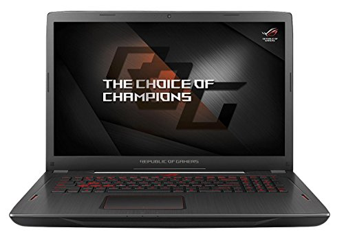 Asus ROG GL702ZC-GC104T Gaming Laptop 43,9 cm (17,3 inch mat Full HD) Gaming Laptop (AMD RYZEN 7 1700, 16GB RAM, 256GB SSD, 1TB HDD, AMD RX580, Win 10) zwart