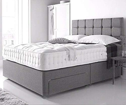3FT Single divan beds with mattress and headboard-2 drawer(same right side)