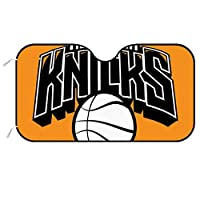 New York Knicks ニューヨークニックス サンシェード カーフロントカバー ガラス 日よけ シート 厚手 防水 夏冬兼用 簡単取付 収納便利 汎用 車用品