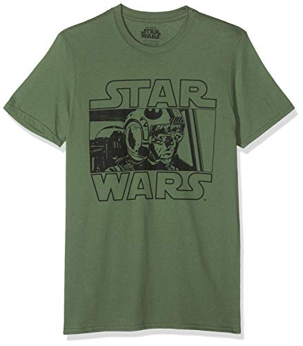 Star Wars Luke Pilot Camiseta, Verde (Military Green Military), Medium (Talla del...