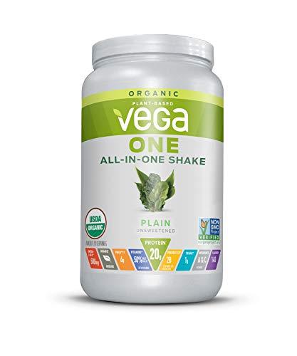 Vega一体有机膳食替代植物基蛋白粉,Unfloravored  - 素食主义者,素食主义者,无麸质,乳制品免费,维生素,矿物质,抗氧化剂和益生菌(20份,1lb 10.9oz)