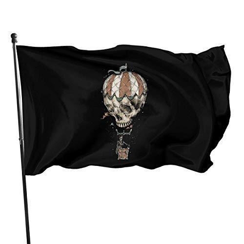 RFTGB 3x5 Fuß Outdoor Polyester Flagge, Flying Balloon Skull Lebendige Farbe und UV-Lichtechtheit
