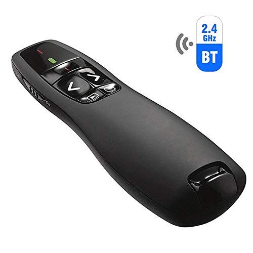 TYTOGE Presenter mit Laserpointer, Drahtlose Powerpoint Presenter-Fernbedienung 2.4 GHz USB Presenter Pointer PPT mit Handheld Pointer Clicker für Präsentation, Plug-and-Play