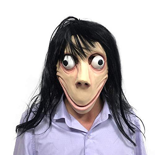 HJF MOMO horror masker, Latex vrouwelijke geest grappig masker Halloween rol spelen partij kostuum rekwisieten