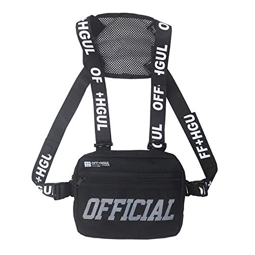 MWOBEP Streetwear Men Bag Tactical Vest Hip Hop Style Crossbody Chest Bags Paquetes para Mujeres Punck Chest Rig Vest Chaleco de Cintura