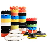 SovelyBoFan 38Pcs Kit de Almohadillas de Pulido Almohadillas de Pulido Cuidado del AutomóVil Pulidora Encerado Conjunto de Pulido