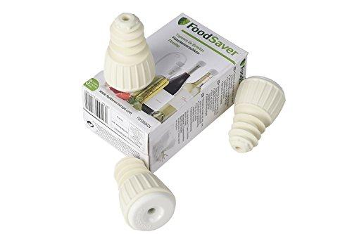FoodSaver 3 Tappi per Bottiglia per Macchine per Sottovuoto Alimentare