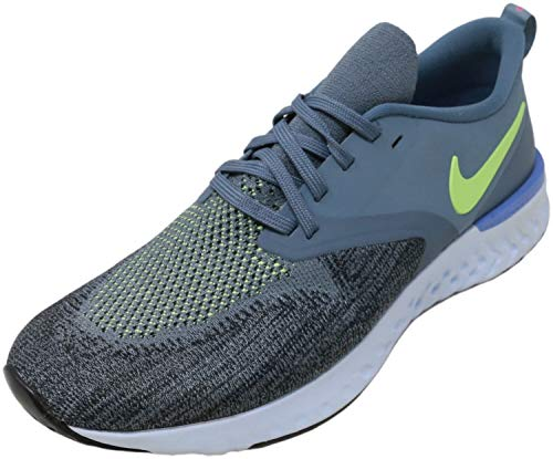 Nike Odyssey React Flyknit 2 Men's Running Shoe Armory Blue/Lime Blast-Black-Sapphire 11.0
