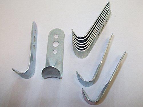 10 ganchos de cuerda de 60 mm – 19 mm de acero chapado para remolques, furgonetas, sastres, caballos, camión