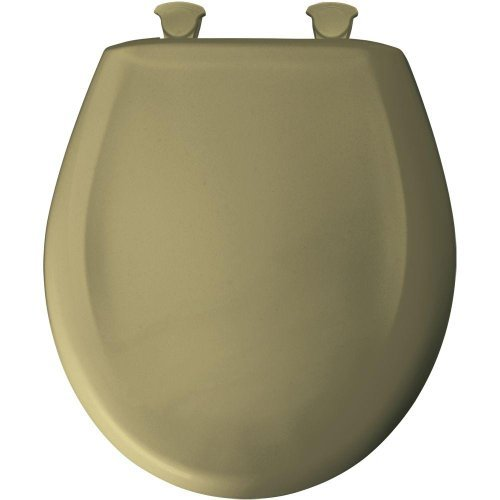 Round Closed Front Plastic Toilet Seat with Cover, Avocado Green by Bemis