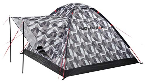 High Peak Beaver 3 Dome Tent Unisex-Adult, Camouflage, 180x200x120 cm
