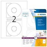 Herma CD labels white ø 116 SuperPrint 50 pcs. - Etiquetas de impresora (Color blanco, Labels/pack - 50 pcs. Sheets/pack - 25 pcs, ø 116 mm, A4 sheets)