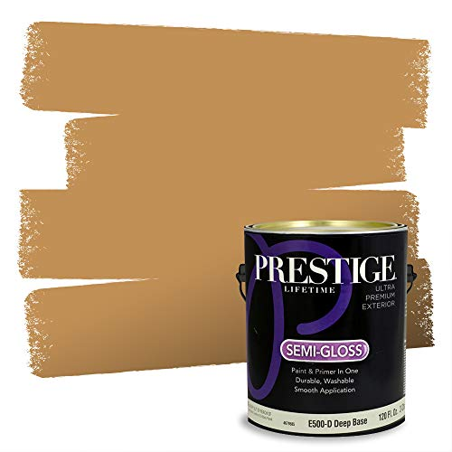 Prestige Paints Exterior Paint and Primer In One, 1-Gallon, Semi-Gloss, Comparable Match of Sherwin Williams* Bosc Pear*