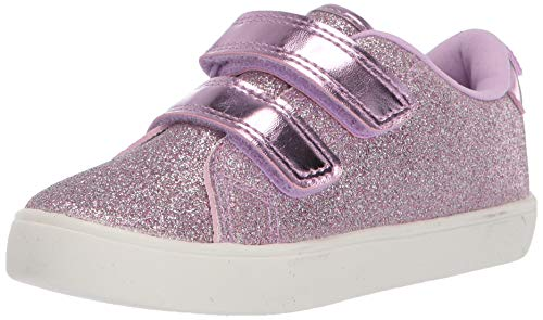 carter's Girl's Darla Casual Sneaker with Double Adjustable Strap, Violet, 11 M US Toddler