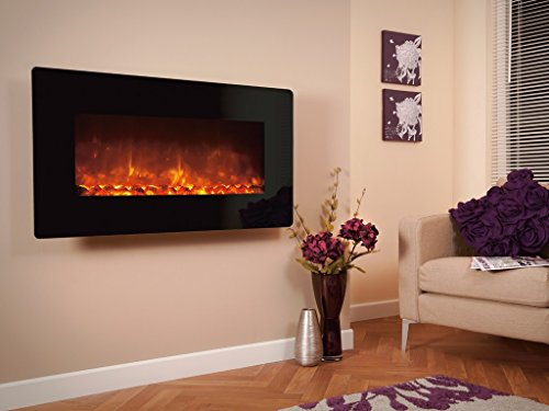 Celsi Designer Fire-Electriflame XD Black Glass 1300 Electric Fire