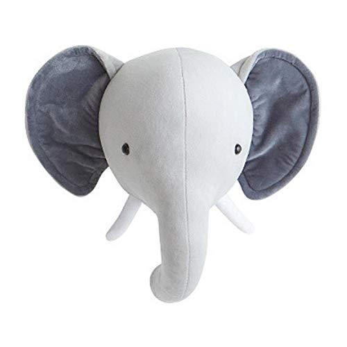 Purplert Adornos para Habitaciones de niños - Decoración de Pared con Cabeza de Conejito de Elefante