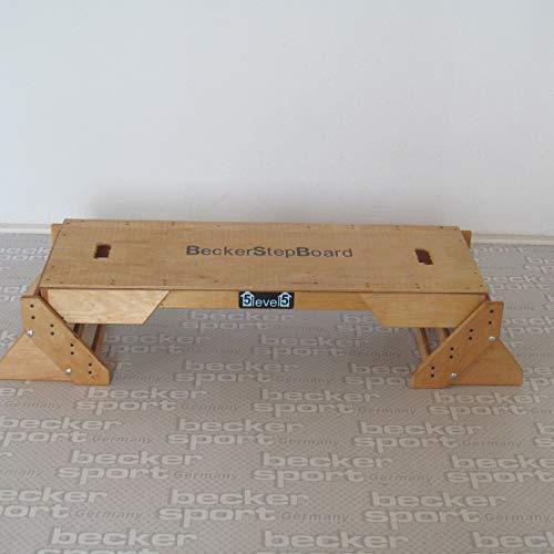 Becker Step Board Studio 5 Level groß, stabil, funktionell und Natur pur sogar als Sprungkasten - Plyo Box verwendbar