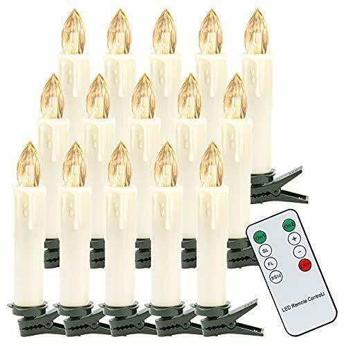 30X LED Weihnachtskerzen mit Fernbedienung Timer Warmweiß Dimmbar Kerzen Weihnachtskerzen Christbaumkerzen Kabellos